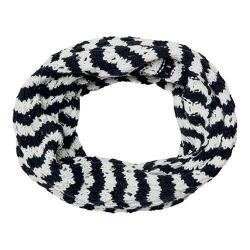 Women's San Diego Hat Company Knit Open Weave Stripe Infinity Scarf BSS3481 Black
