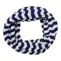 Women's San Diego Hat Company Knit Open Weave Stripe Infinity Scarf BSS3481 Navy