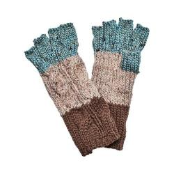 Women's San Diego Hat Company Knit Patchwork Fingerless Glove KNG3459 Tan