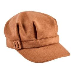Women's San Diego Hat Company Newsboy Cap with Buckle CTH8065 Camel