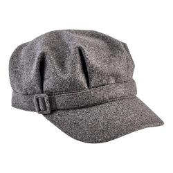 Women's San Diego Hat Company Newsboy Cap with Buckle CTH8065 Grey