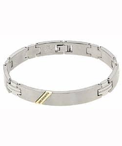 10k Yellow Gold Men's Steel Diamond Bracelet (Option: 8.25 Inch) https://ak1.ostkcdn.com/images/products/1904104/10k-Yellow-Gold-Mens-Steel-Diamond-Bracelet-P949767.jpg?impolicy=medium