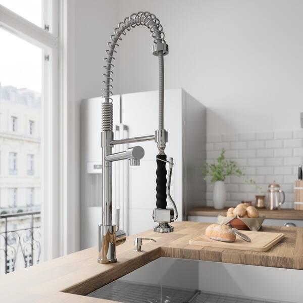 Shop VIGO Zurich Chrome Pull-Down Spray Kitchen Faucet ...