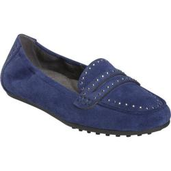 Women's Aerosoles Drive Up Loafer Dark Blue Suede