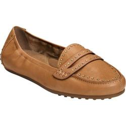 Women's Aerosoles Drive Up Loafer Dark Tan Leather