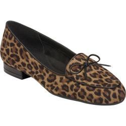 Women's Aerosoles Feel Good Flat Leopard Tan Leather/Fabric