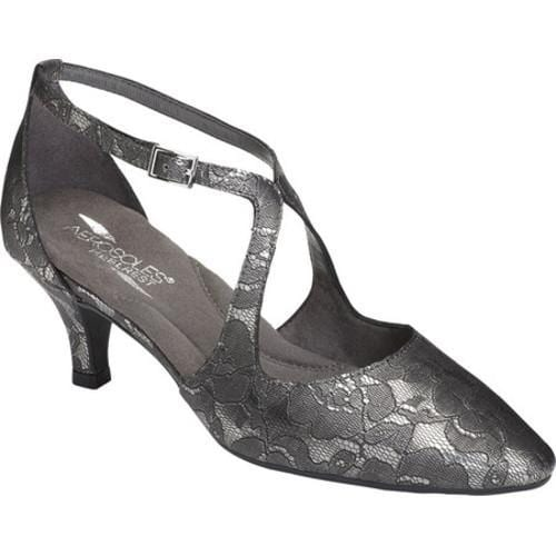 Shop Women s Aerosoles Onward Kitten Heel Silver Lace Print Faux Leather - Free  Shipping Today - Overstock - 16823398 39c4fa61b26c