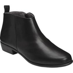 Women's Aerosoles Step It Up Ankle Boot Black Leather