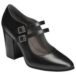 Women's Aerosoles Washington Square Mary Jane Heel Black Leather