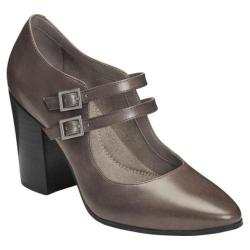 Women's Aerosoles Washington Square Mary Jane Heel Grey Leather