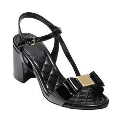 Women's Cole Haan Genessa II T-Strap Sandal Black Patent
