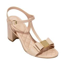 Women's Cole Haan Genessa II T-Strap Sandal Nude Patent