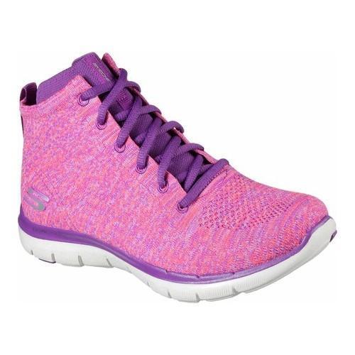 9c25ca568c0e9 Shop Women s Skechers Flex Appeal 2.0 In Code High Top Pink Purple ...
