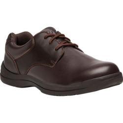 Men's Propet Marv Plain Toe Shoe Brown Synthetic