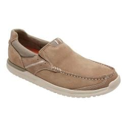 Men's Rockport Langdon Slip On Taupe Nubuck