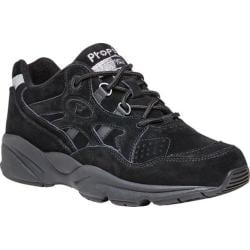 Women's Propet Stability Walker Shoe Black Suede