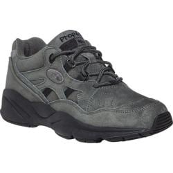 Women's Propet Stability Walker Shoe Pewter Suede