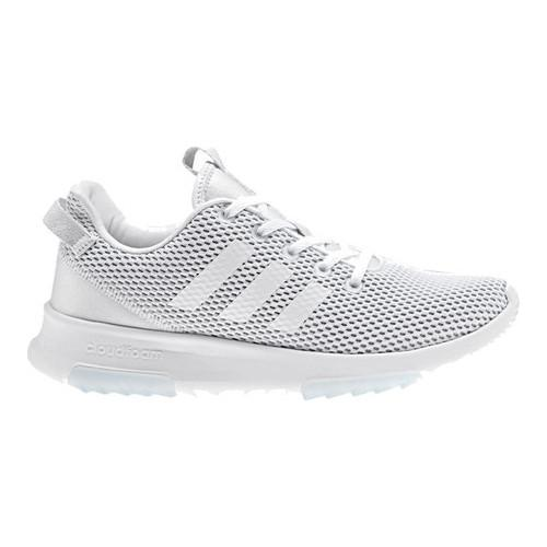 pretty nice 88959 36299 Shop Womens adidas NEO Cloudfoam Racer TR Running Shoe FTWR WhiteFTWR  WhiteGrey One F17 - Free Shipping On Orders Over 45 - Overstock - 16802298