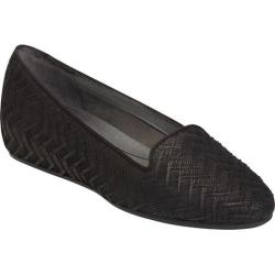 Women's Aerosoles Cosmetology Flat Black Nubuck