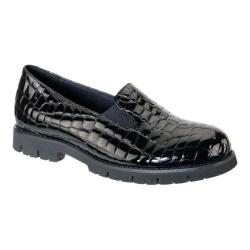 Women's David Tate Pearl Loafer Black Croc Patent