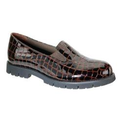 Women's David Tate Pearl Loafer Brown Croc Patent