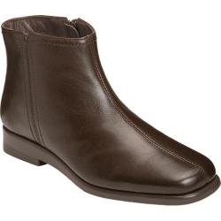 Women's Aerosoles Double Trouble 2 Ankle Boot Dark Brown Leather