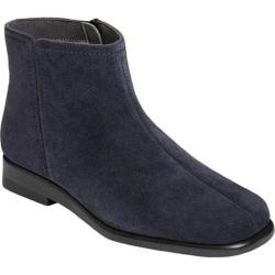 Women's Aerosoles Double Trouble 2 Ankle Boot Navy Suede