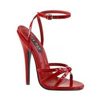 Women's Devious Domina 108 Ankle-Strap Sandal Red Patent