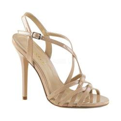 Women's Pleaser Amuse 13 Strappy Sandal Nude Patent