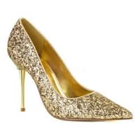 Women's Pleaser Appeal 20G Pointed-Toe Pump Gold Glitter Polyurethane