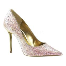 Women's Pleaser Appeal 20G Pointed-Toe Pump Rose Glitter Polyurethane