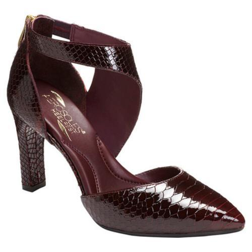 bed3f5a00ab Women's Aerosoles Tax Cut Ankle Strap Heel Wine Snake Print Leather