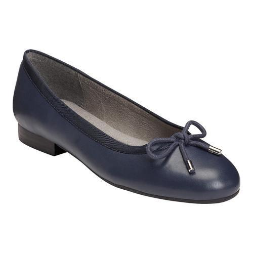 0ceacb32d34b Shop Women s A2 by Aerosoles Good Cheer Ballet Flat Navy Faux  Leather Fabric - Free Shipping Today - Overstock.com - 16809822