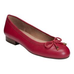 Women's A2 by Aerosoles Good Cheer Ballet Flat Dark Red Faux Leather/Fabric