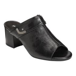 Women's A2 by Aerosoles Mid West Slide Sandal Black Faux Leather (More options available)