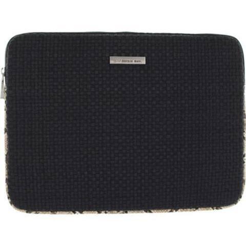 Women's Bernie Mev BM19 Medium Laptop Case Natural Snake Faux Leather/Black
