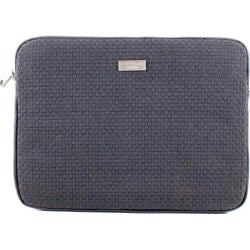 Women's Bernie Mev BM19 Medium Laptop Case Black Faux Leather/Black - Thumbnail 0