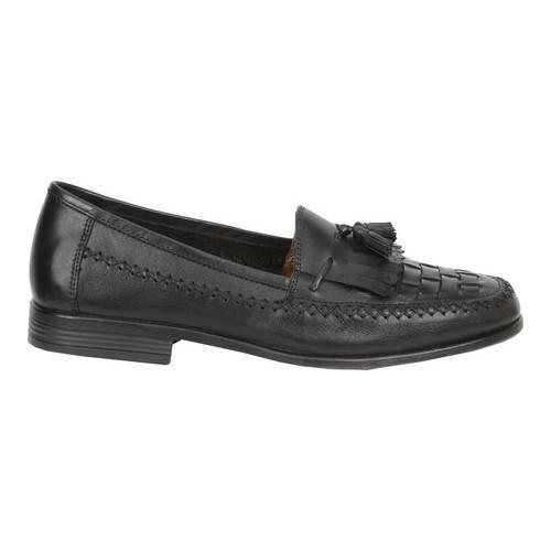 Men's Giorgio Brutini Monocle Kiltie Loafer Black Leather - Thumbnail 1