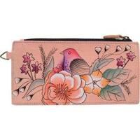 Women's ANNA by Anuschka Leather Credit Card Organizer/Wallet 1713 Vintage Garden