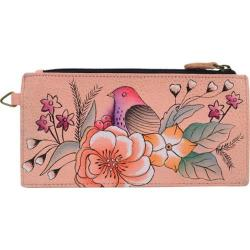 Women's ANNA by Anuschka Leather Credit Card Organizer/Wallet 1713 Vintage Garden