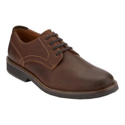 Men's Dockers Parkway Plain Toe Derby Dark Brown Waxy Burnished Full Grain