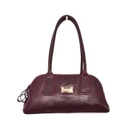 Women's Latico Louise Coinkeeper Shoulder Bag 7614 Pebble Burgundy Leather