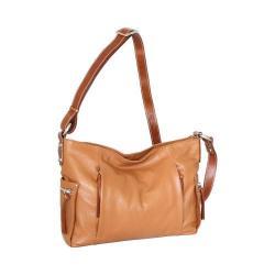 Women's Nino Bossi Patrice Leather Crossbody Bag Cognac