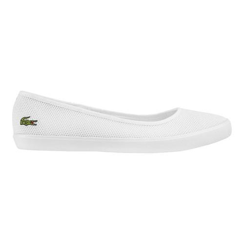 a7e8c1dd0 Shop Women s Lacoste Marthe 117 1 Ballet Flat White Textile - Free Shipping  Today - Overstock - 16809921