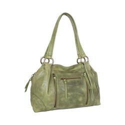 Women's Nino Bossi Francisca Leather Satchel Avocado