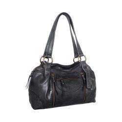 Women's Nino Bossi Francisca Leather Satchel Black