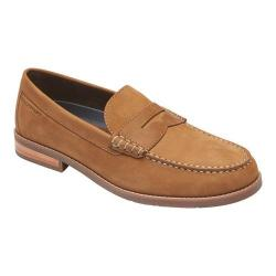 Men's Rockport Cayleb Penny Loafer Toffee Leather