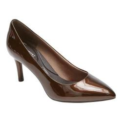 Women's Rockport Total Motion 75mm Pointed Toe Pump Bronzo Pearl Patent