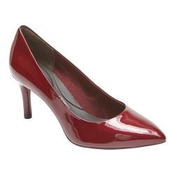 Women's Rockport Total Motion 75mm Pointed Toe Pump Merlot Pearl Patent