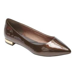 Women's Rockport Total Motion Adelyn Ballet Flat Bronze Patent